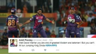 Hilarious GIFs and funny tweets floods on Twitter as Ashok Dinda strikes with David Warner's wicket