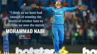 """""""Enough of winning hearts, time to win matches now"""", feels Afghanistan's Mohammad Nabi"""