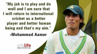 Aamer promises to return as