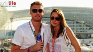 Andrew Fintoff with wife Rachael Wools