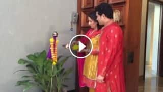 Video: Sachin Tendulkar celebrates 'Gudi Padwa' with his wife