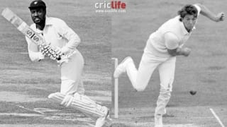 Viv Richards's bat provides fitting reply to his sledger