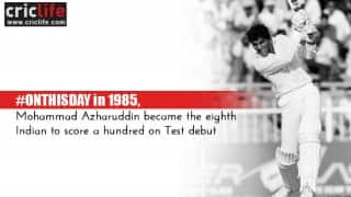 Azharuddin announced his arrival in style with a hundred on Test debut