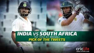 Pick of the tweets: India vs South Africa, 1st Test at Mohali