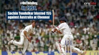 Video: Sachin Tendulkar's majestic 155 sets up Chennai Test against Australia