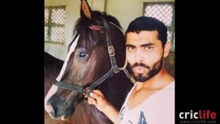 Jadeja with his horse Ganga