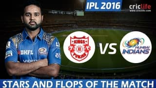 IPL 2016, Match 21: Mumbai Indians beat Kings XI Punjab by 25 runs at Mohali, Stars and Flops