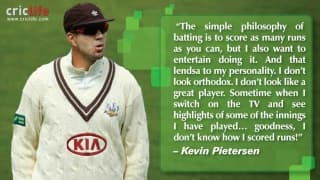 Kevin Pietersen loves scoring runs and entertaining the fans