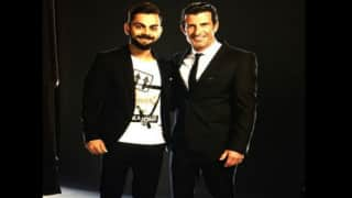 Photo: When 'Fan' Virat Kohli met football legend Luis Figo