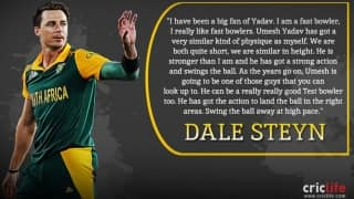 Dale Steyn heaps praise on Umesh Yadav, other Indian fast bowlers