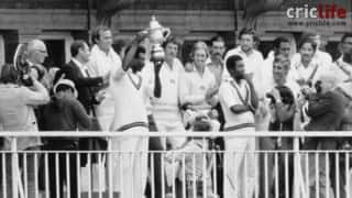 Cricket World Cup 1979: Clive Lloyd lifts the trophy for second time in succession