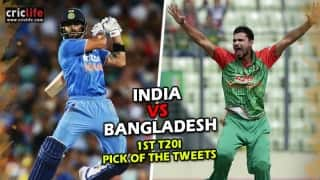 Pick of the tweets: India vs Bangladesh, 1st T20I at Mirpur