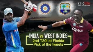 India vs West Indies 2016, 2nd T20I at Florida: Pick of the Tweets