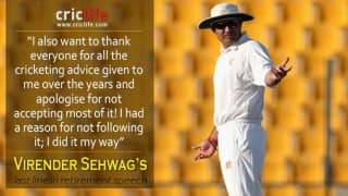 Virender Sehwag's parting line aptly sums up his career