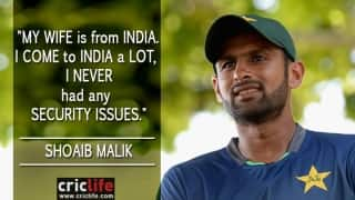 Shoaib Malik praises security rendered by India