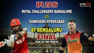 IPL 2016 Final, Pick of the tweets: Royal Challengers Bangalore vs Sunrisers Hyderabad at Bengaluru