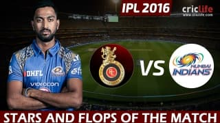 IPL 2016: Mumbai Indians beat Royal Challengers Bangalore by 6 wickets, Stars and Flops