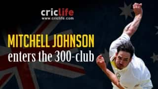 Mitchell Johnson: Fifth Australian to join the 300-wicket club in Test cricket