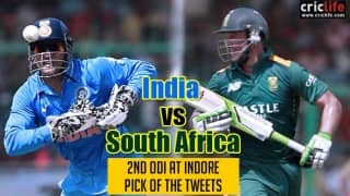 Pick of the tweets: India vs South Africa, 2nd ODI at Indore
