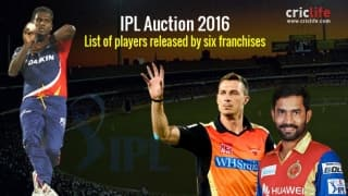 IPL 2016 Auction: Players released by their respective franchise