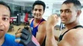 Have a look at MS Dhoni's massive biceps!