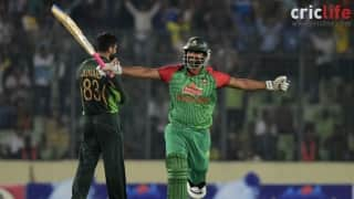 Tamim Iqbal celebrates his second hundred in a row; guides Bangladesh to their maiden ODI series triumph over Pakistan