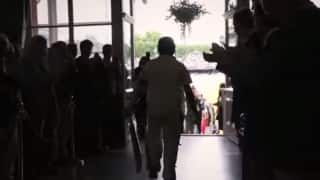 Video: Sachin Tendulkar walks out to bat at Lord's for the one last time