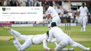 Mohammad Hafeez gets trolled on Twitter for dropping Alastair Cook's catch