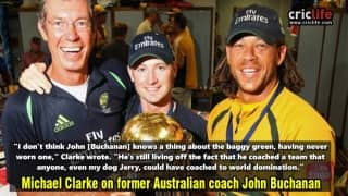 """Michael Clarke lambasts John Buchanan and Andrew Symonds; compares the former coach with his """"dog"""""""