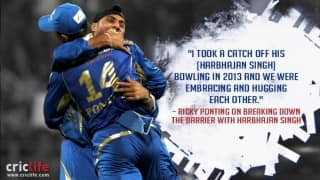 Mumbai Indians coach Ricky Ponting opens up on his chemistry with Harbhajan Singh