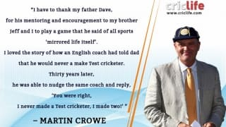Martin Crowe thanks father after induction in ICC Hall of Fame