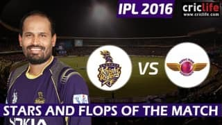 IPL 2016: Kolkata Knight Riders beat Rising Pune Supergiants by 8 wickets (D/L method), Stars and Flops