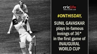 Inaugural World Cup opens with Sunil Gavaskar's 'snail-slow' 36 not out