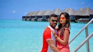 Manoj Tiwary and wife Sushmita holidaying in Maldives