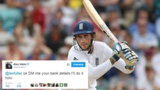 Bizarre: When Alex Hales partially refunded ticket cost to a disgruntled English fan