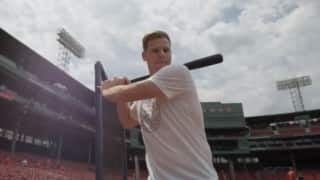 Steve Smith's day out with Baseball in Boston