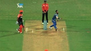 Video: Krunal Pandya tries to do a Lasith Malinga, but fails