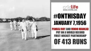 Vinoo Mankad and Pankaj Roy share world record opening partnership