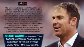 Shane Warne lashes out at John Buchanan over comment on Michael Clarke