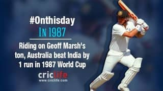 Australia beat India by 1 run, the narrowest margin in WC history
