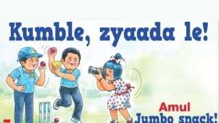 Amul's hilarious take on Anil Kumble's appointment as India's head coach