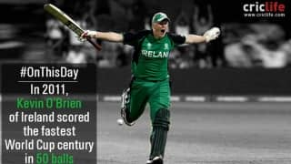 ICC Cricket World Cup 2011: Kevin O'Brien's fastest World Cup century seals a win against England