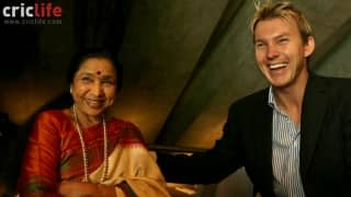 Speed-king Brett Lee wishes melody-queen Asha Bhosle on her birthday
