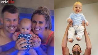 Family time for David Warner and Ben Hilfenhaus