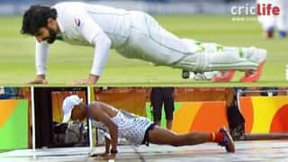 Watch Marathon runner slip, do 'Misbah-ul-Haq-like' push-ups at finish line in Rio Olympics 2016