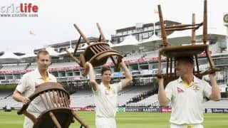 Floored at Cardiff, Aussies carry their own chairs at Lord's!