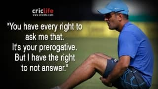 12 witty replies: To Media, From MS Dhoni