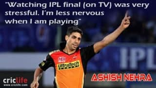 Ashish Nehra finds watching cricket on TV more stressful than playing
