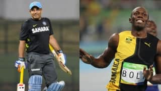 Virender Sehwag heaps praise on Usian Bolt; advices him to compete in F1 race without a car