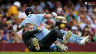 Tactical or unintentional? Michael Clarke's rugby-like tackle on Sachin Tendulkar
